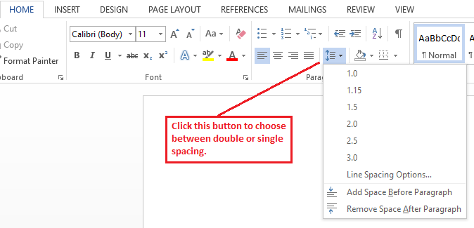 Double Single Spacing Microsoft Word