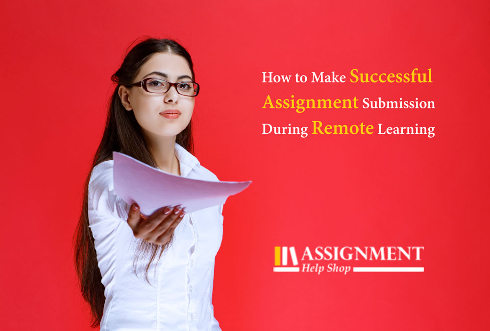 Assignment submission in remote learning